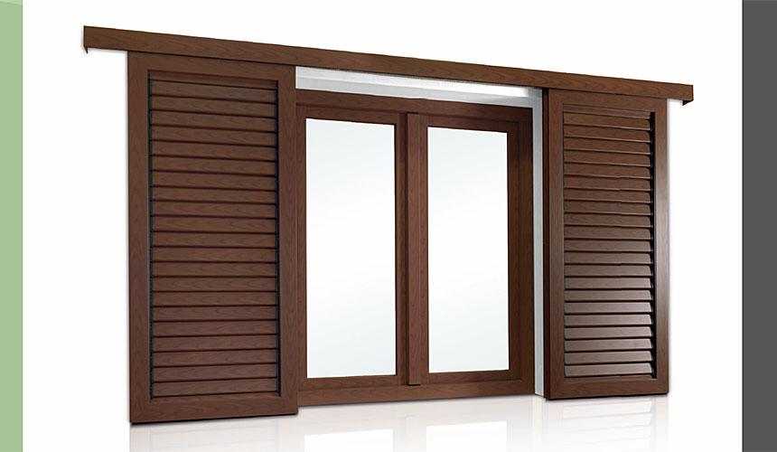 Vendita persiane in alluminio legno milano artcasa - Persiane per finestre scorrevoli ...